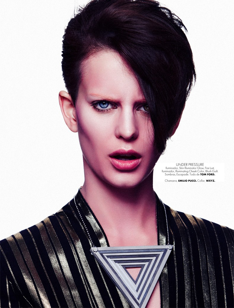 RockerBeautyElle5 Ellinore Erichsen Channels David Bowie for Takahiro Ogawa in Elle Mexico May 2013