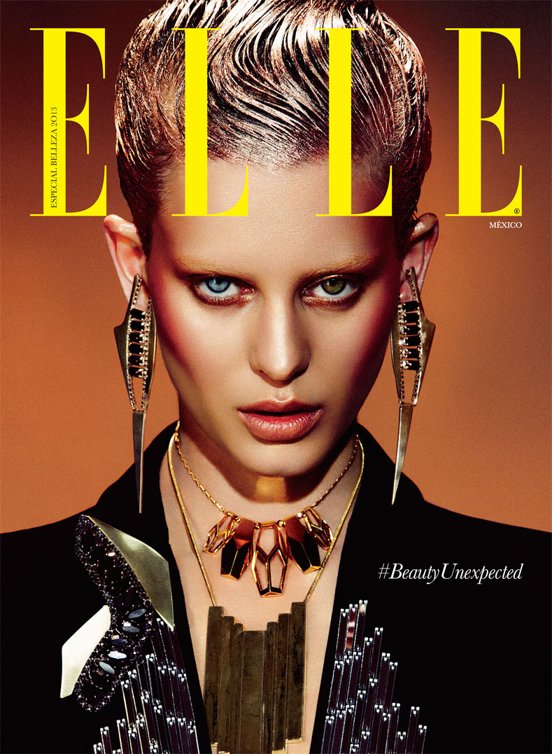 RockerBeautyElle8 Ellinore Erichsen Channels David Bowie for Takahiro Ogawa in Elle Mexico May 2013