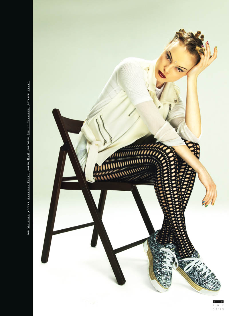 SNC 55 TEMA shoot 12 Dasha Zharova is A 90s Chick for SnC May 2013 by Nikolay Biryukov