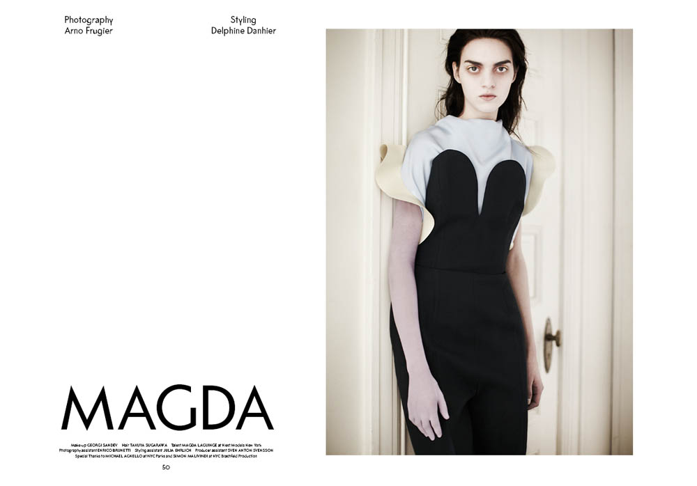 SSAW 3 Magda Magda Laguinge Enchants In SSAW Magazines Spring 2013 Cover Shoot