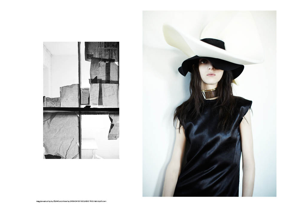 SSAW 3 Magda3 Magda Laguinge Enchants In SSAW Magazines Spring 2013 Cover Shoot