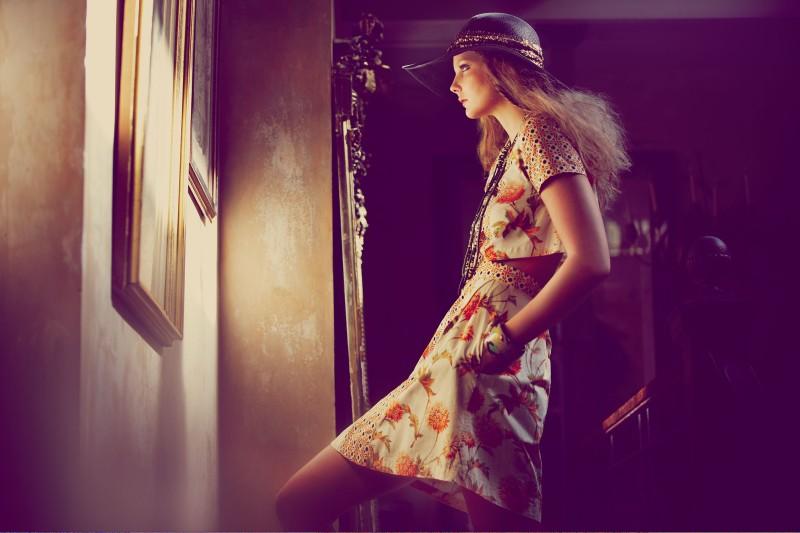 Eniko Mihalik Has a Bohemian Spring for Shopbop.com Shoot