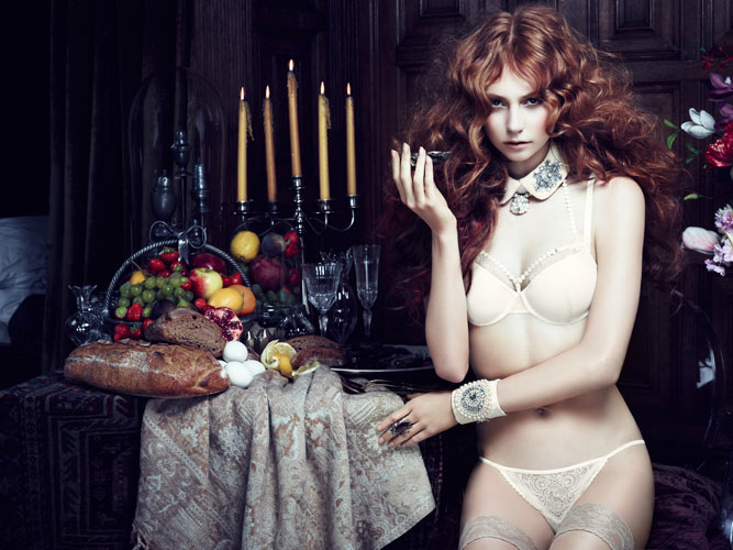 The Mauritshuis white Marlies Dekkers Gets Inspired by The Mauritshuis for Fall 2013 Lingerie Campaign