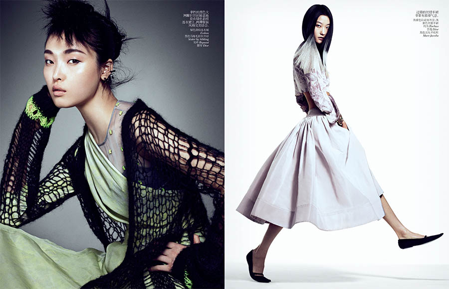 VCO SharifHamza 3 Yumi Lambert, Sung Hee and Ji Hye Park Pose for Sharif Hamza in Vogue China June 2013