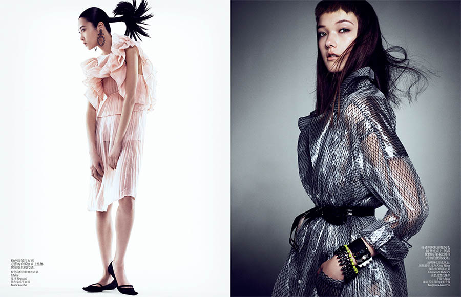 VCO SharifHamza 5 Yumi Lambert, Sung Hee and Ji Hye Park Pose for Sharif Hamza in Vogue China June 2013