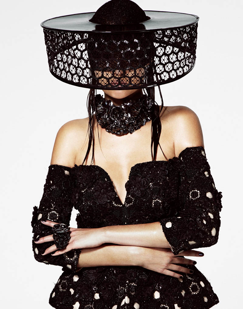 Josephine Skriver is a Hat Lady for V Magazine Online by Jason Kim