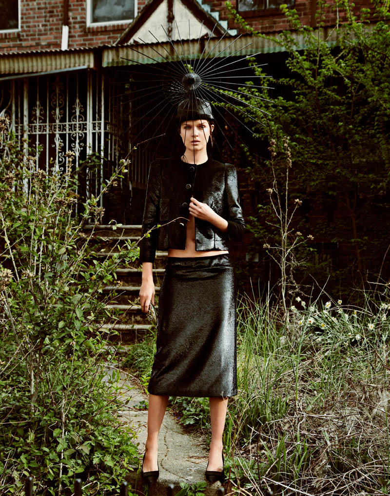 V HATS LORES 04 Josephine Skriver is a Hat Lady for V Magazine Online by Jason Kim