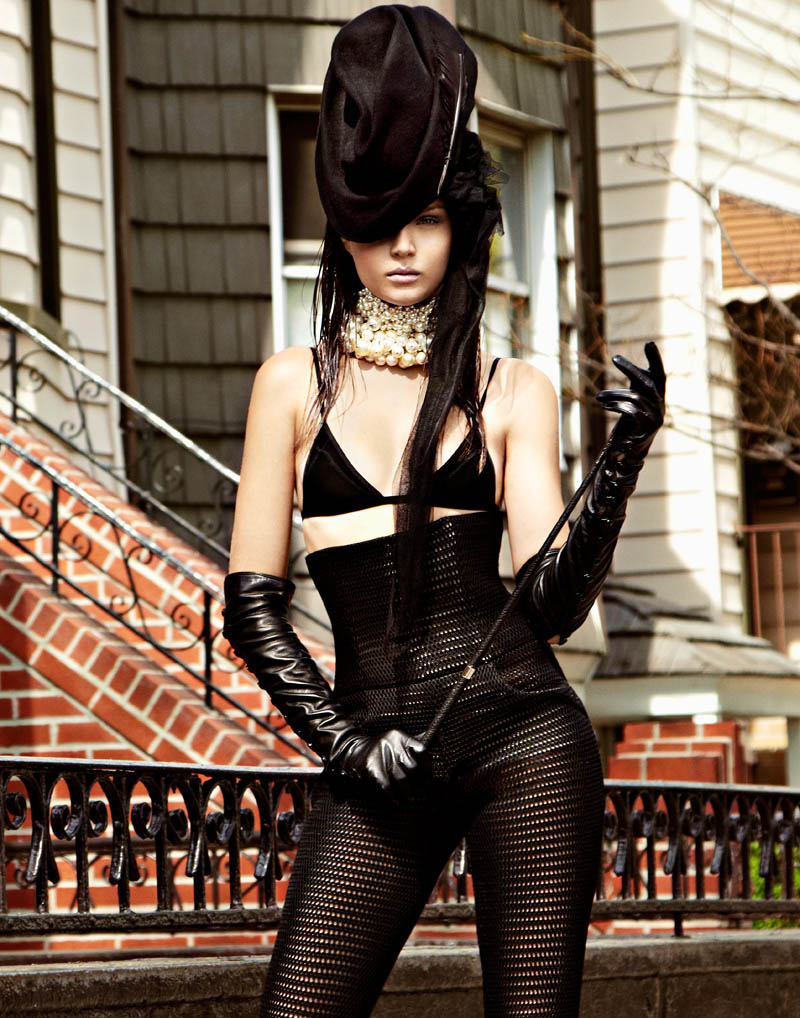 V HATS LORES 06 Josephine Skriver is a Hat Lady for V Magazine Online by Jason Kim