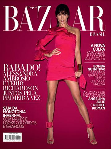 alessandra ambrosio bazaar cover A Gucci Clad Alessandra Ambrosio Covers Harpers Bazaar Brazil June 2013