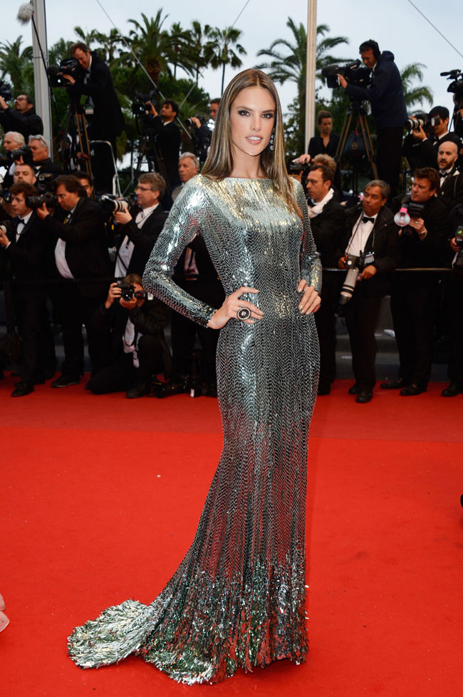 alessandra ambrosio cavalli2 Alessandra Ambrosio Stuns in Roberto Cavalli at the All is Lost Cannes Premiere