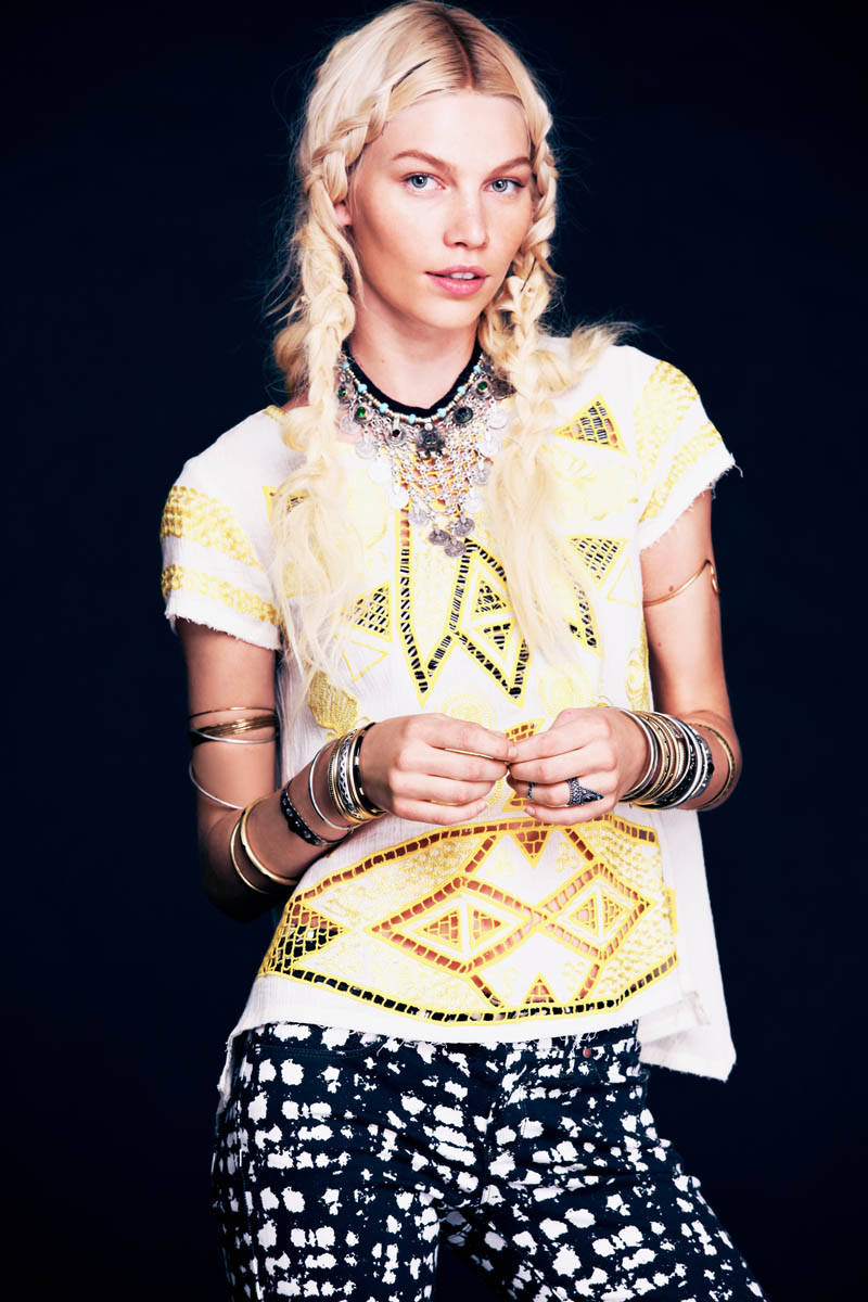 aline weber free people6 Aline Weber Stars in Free Peoples Safari Inspired May Lookbook