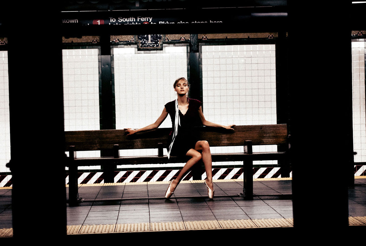 amanda norgaard curve4 Amanda Norgaard is a Subway Ballerina for KURV Magazine by Marco Trunz