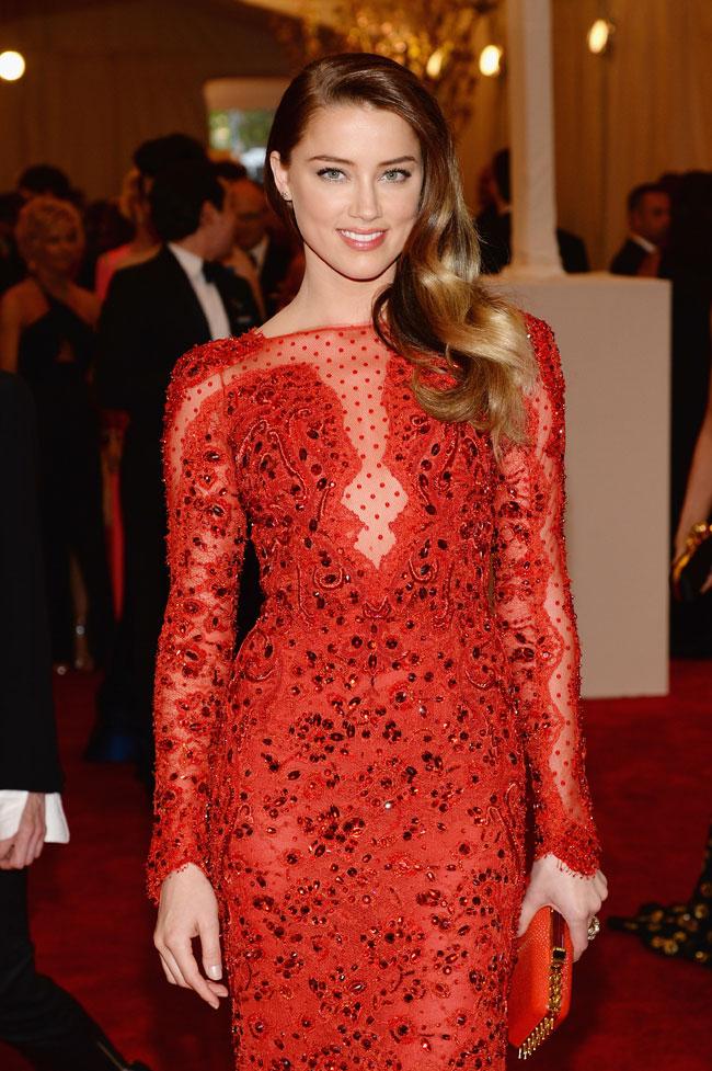 amber heard2 Amber Heard Shines in Emilio Pucci at the 2013 Met Gala