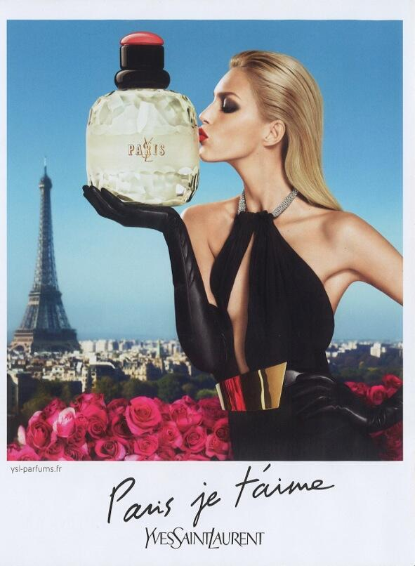 anja rubik ysl1 Anja Rubik Stars in YSLs Paris je taime and Parisienne Fragrance Campaigns