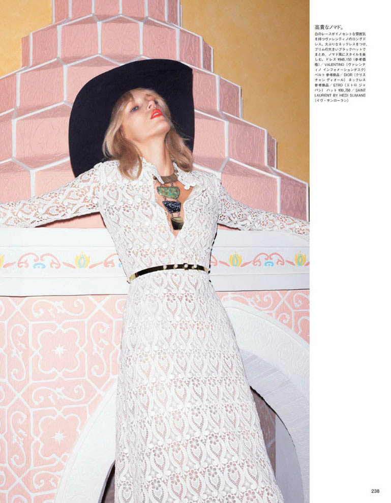 anja vogue japan6 Anja Rubik is 70s Glam for Vogue Japan June 2013 by Katja Rahwles