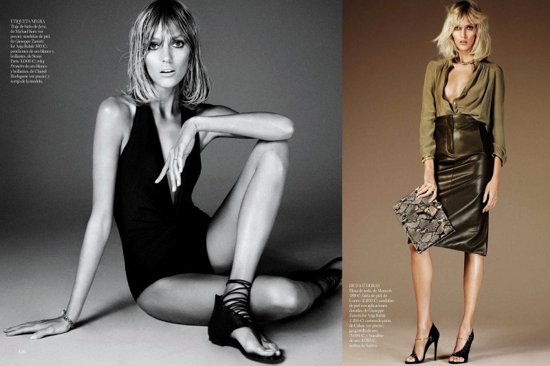 anja vogue shoot2 Anja Rubik Celebrates the Seventies for Vogue Spain's June 2013 Edition