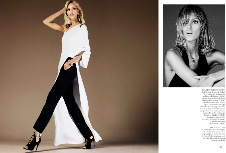 anja vogue shoot3 Anja Rubik Celebrates the 70s for Vogue Spain's June 2013 Edition