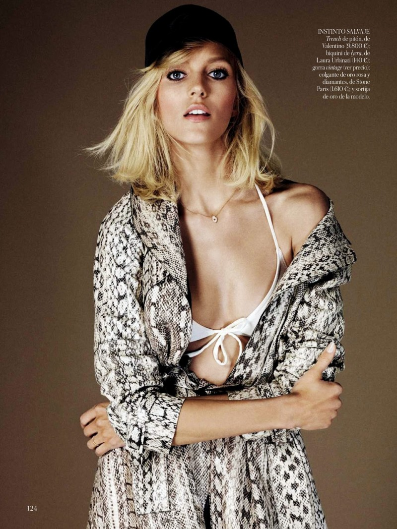 anja vogue shoot6 Anja Rubik Celebrates the 70s for Vogue Spain's June 2013 Edition