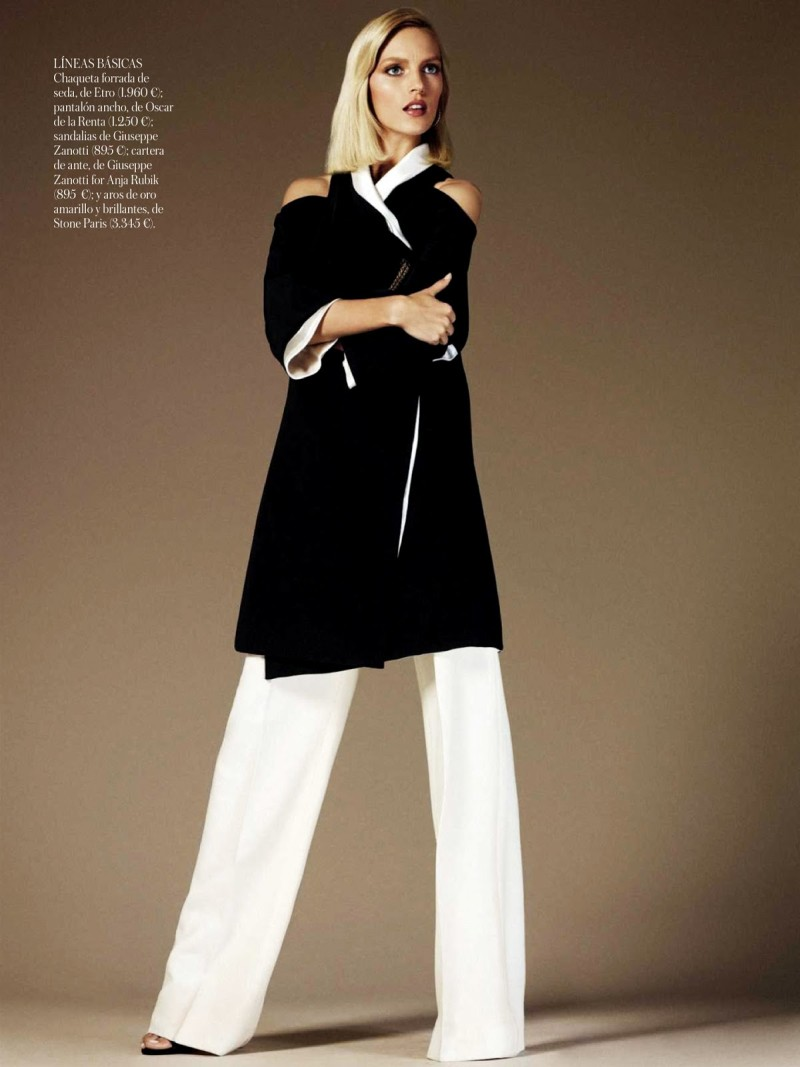 anja vogue shoot9 Anja Rubik Celebrates the Seventies for Vogue Spain's June 2013 Edition
