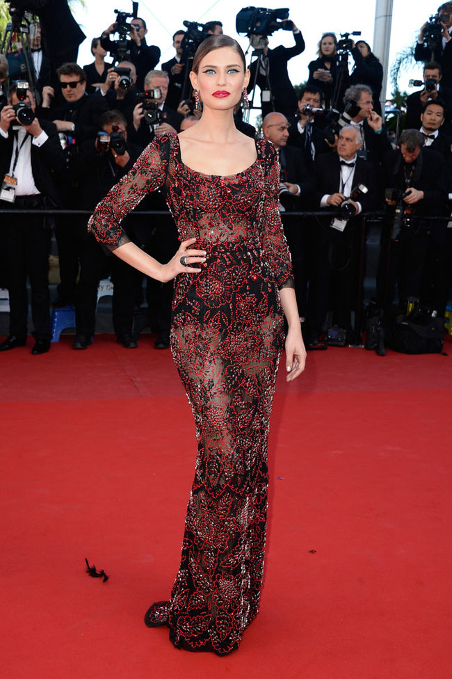 bianca balti dolce gabbana1 Bianca Balti Shines in Dolce & Gabbana at the Venus in Fur Cannes Premiere