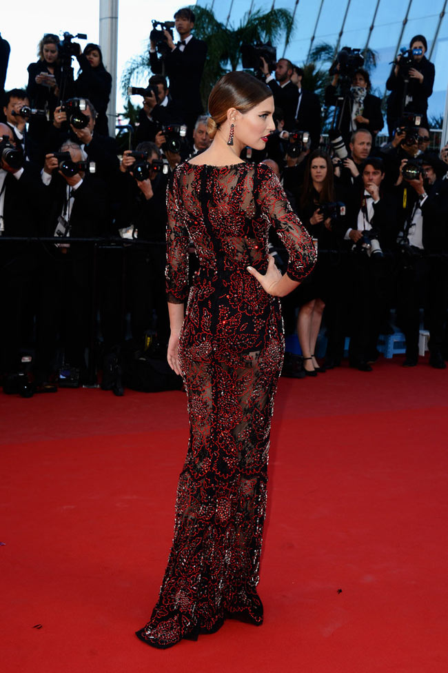 bianca balti dolce gabbana2 Bianca Balti Shines in Dolce & Gabbana at the Venus in Fur Cannes Premiere