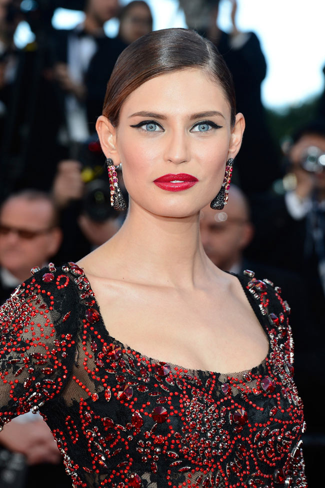 bianca balti dolce gabbana3 Bianca Balti Shines in Dolce & Gabbana at the Venus in Fur Cannes Premiere