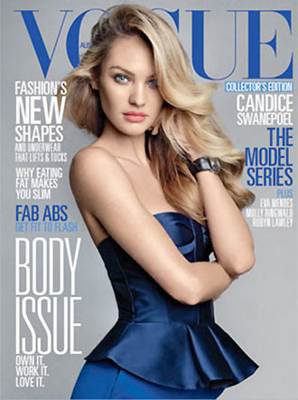 Candice Swanepoel Covers Vogue Australia June 2013 in Burberry