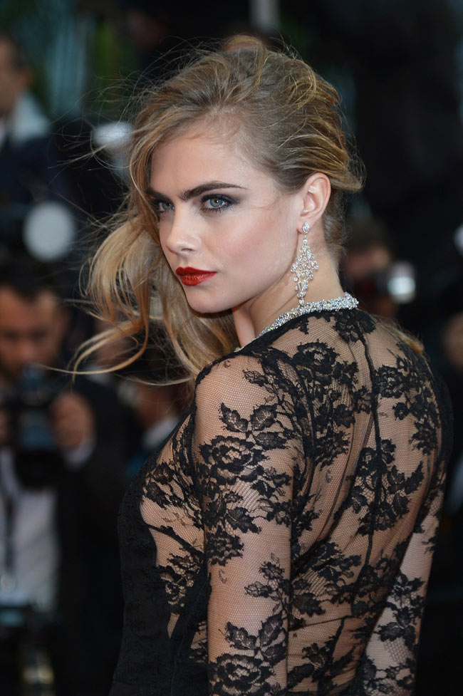 cara cannes burberry4 Cara Delevingne is Lacy in Burberry for the 66th Annual Cannes Film Festival