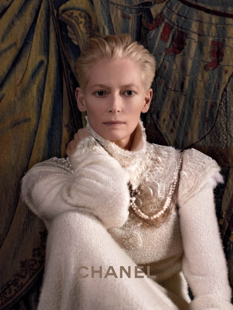 chanel tilda swinton1 Tilda Swinton Embraces Scottish Heritage for Chanel Paris Edimbourg Campaign by Karl Lagerfeld