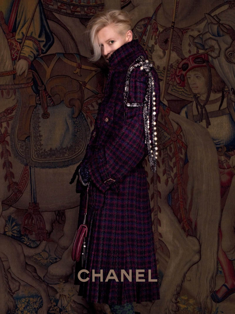 chanel tilda swinton2 Tilda Swinton Embraces Scottish Heritage for Chanel Paris Edimbourg Campaign by Karl Lagerfeld
