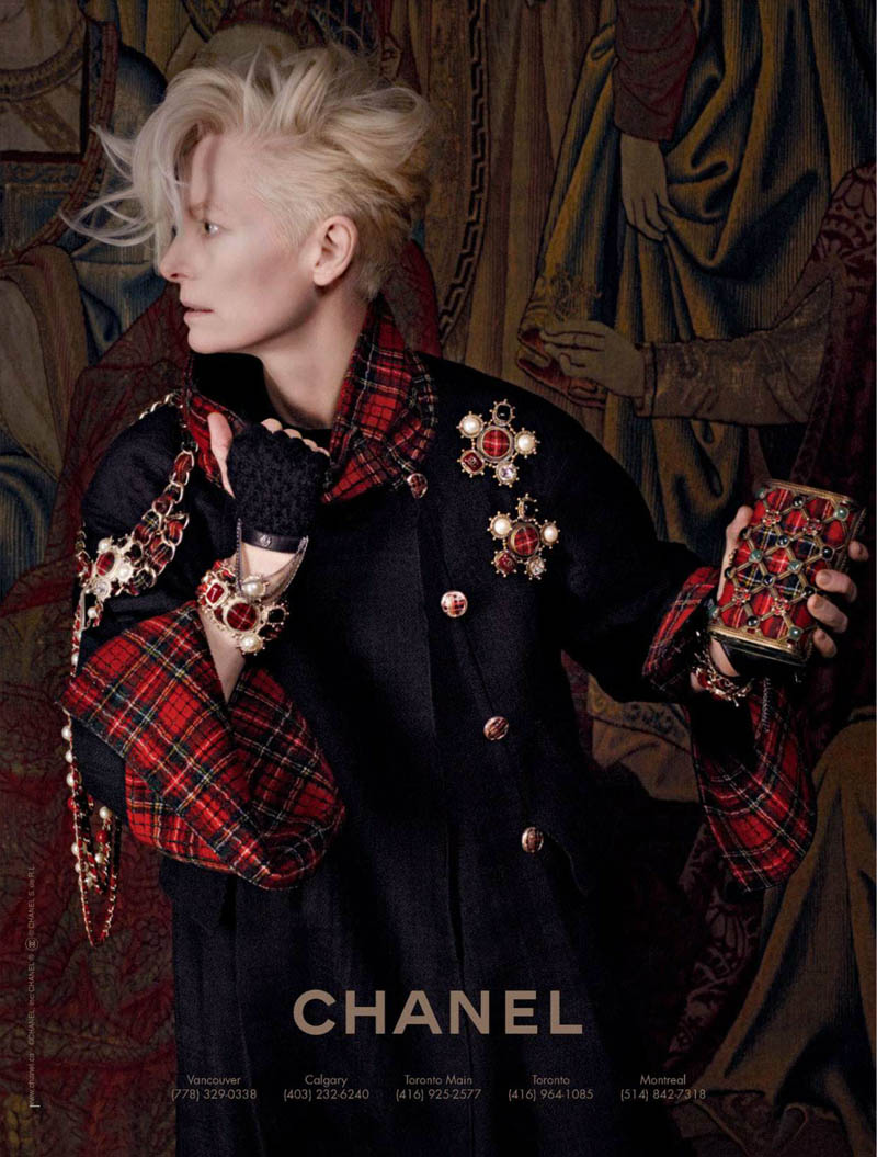 chanel tilda swinton3 Tilda Swinton Embraces Scottish Heritage for Chanel Paris Edimbourg Campaign by Karl Lagerfeld