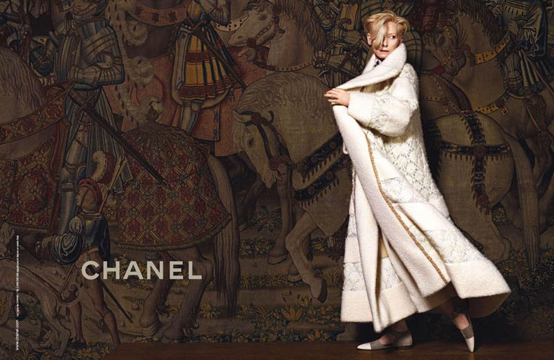 chanel tilda swinton4 Tilda Swinton Embraces Scottish Heritage for Chanel Paris Edimbourg Campaign by Karl Lagerfeld
