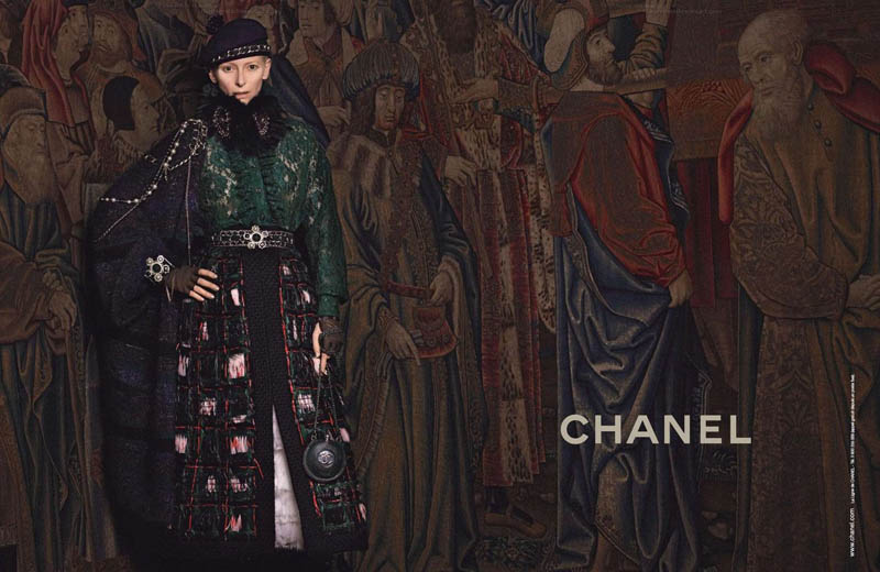 chanel tilda swinton5 Tilda Swinton Embraces Scottish Heritage for Chanel Paris Edimbourg Campaign by Karl Lagerfeld