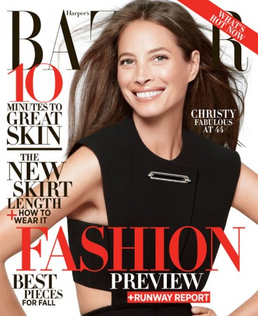 Christy Turlington Graces the June/July 2013 Cover of Harper's Bazaar US