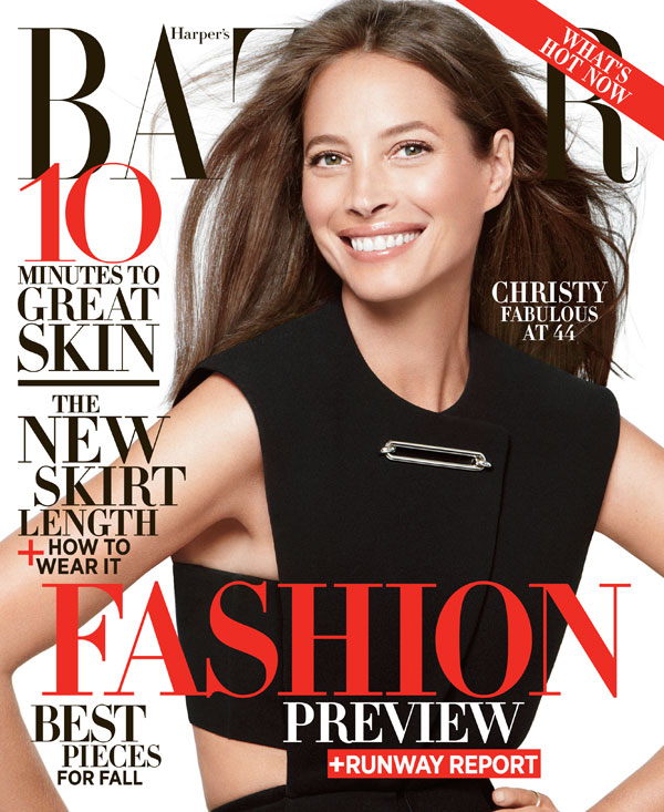 christy turlington harpers bazaar1 Christy Turlington Graces the June/July 2013 Cover of Harpers Bazaar US