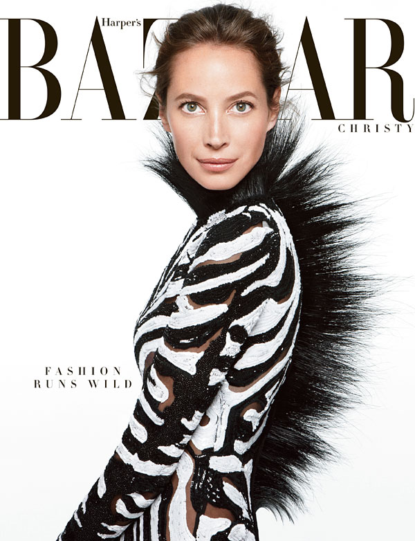 christy turlington harpers bazaar2 Christy Turlington Graces the June/July 2013 Cover of Harpers Bazaar US