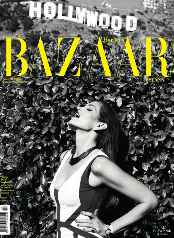 cindy crawford bazaar spain9 Cindy Crawford Stars in Harpers Bazaar Spain June 2013 Cover Shoot by Nagi Sakai