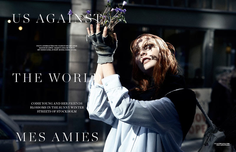 Codie Young Takes to the Streets for Scandinavia S/S/A/W 2013 by Andreas Öhlund