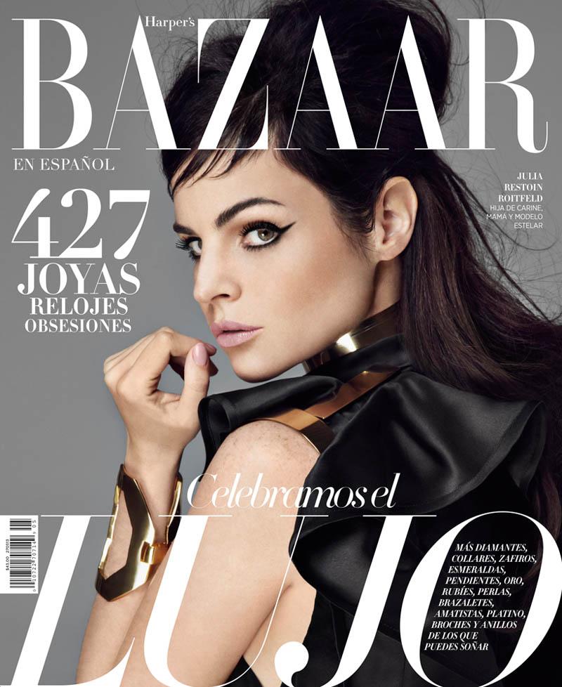 Juila Restoin Roitfeld Stars in Harper's Bazaar Latin America May 2013 by Michael Flores