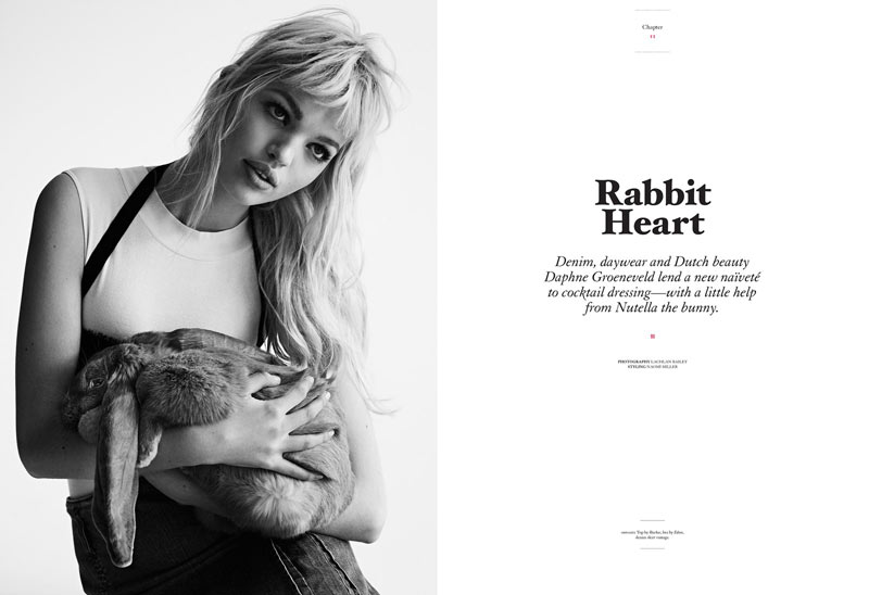 daphne groeneveld twin magazine1 Daphne Groeneveld in Black and White for Twins Spring/Summer 2013 Edition