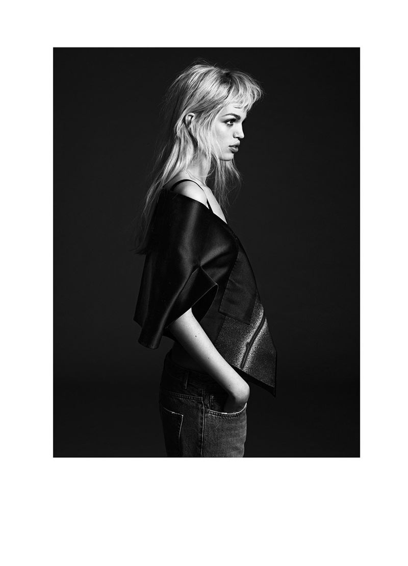 Daphne Groeneveld in Black and White for Twin's Spring/Summer 2013 Edition