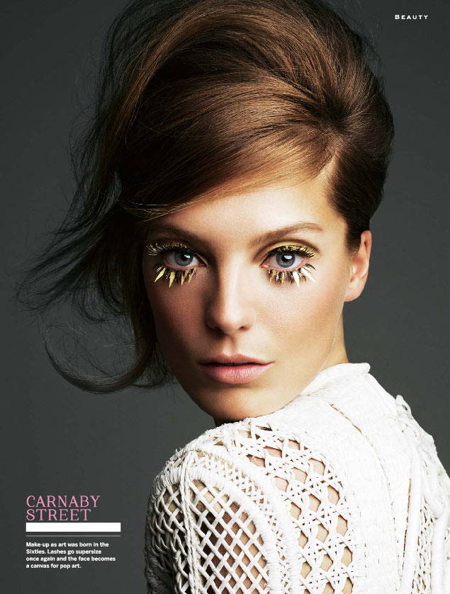 Daria Werbowy Goes Retro for Stylist Magazine's April 2013 Edition