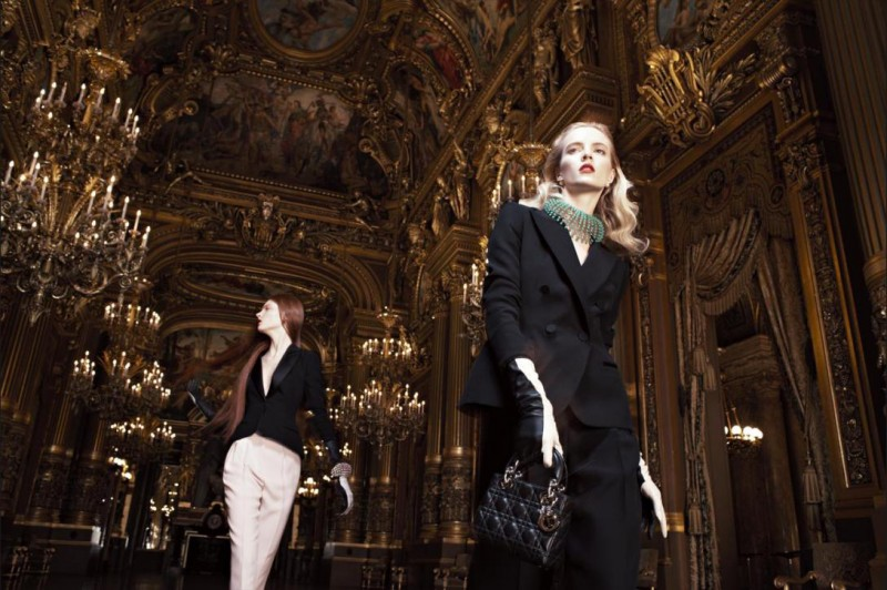 dior fall3 800x532 Daria Strokous and Iselin Steiro Star in Dior Fall 2013 Opera Campaign by Willy Vandeperre