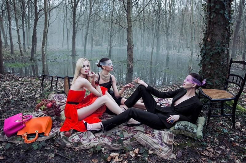 "Dior's New ""Secret Garden"" Campaign Stars Daria Strokous by Inez & Vinoodh"