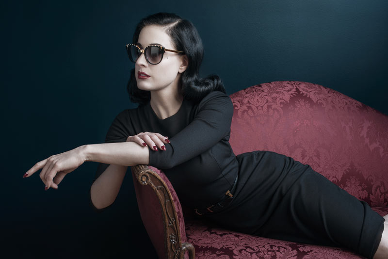 dita fall1 Dita Von Teese Stars in DITA Eyewears Fall 2013 Legends Campaign