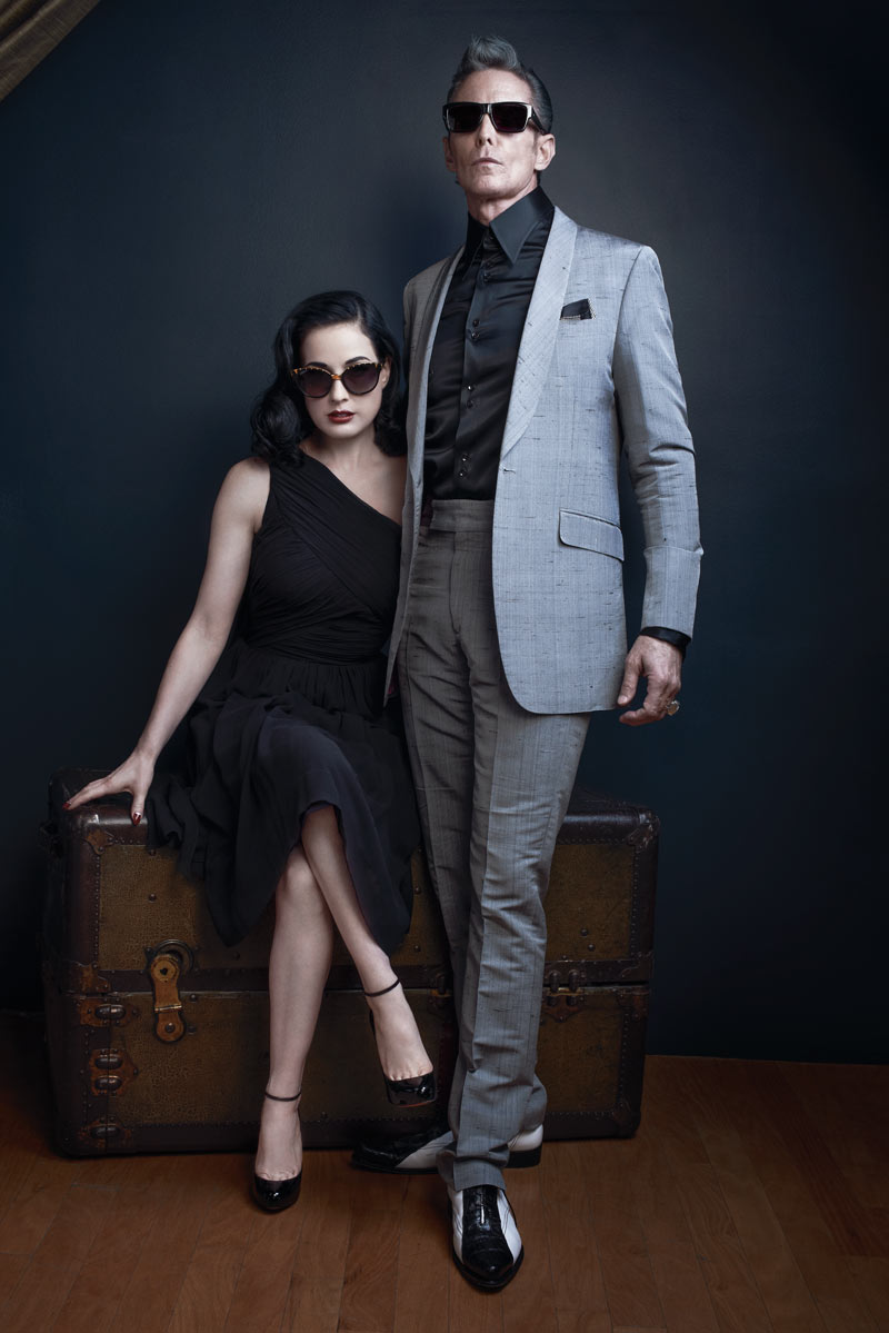 dita fall2 Dita Von Teese Stars in DITA Eyewears Fall 2013 Legends Campaign