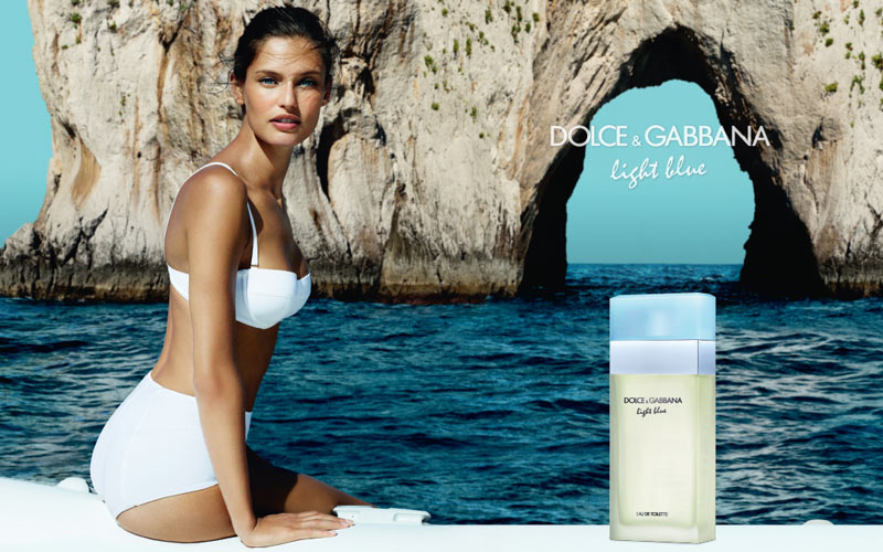 dolce gabbana light blue1 Bianca Balti Poses on the Coast for Dolce & Gabbana Light Blue Fragrance Campaign