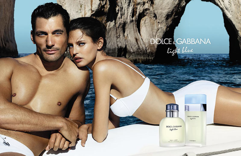 dolce gabbana light blue2 Bianca Balti Poses on the Coast for Dolce & Gabbana Light Blue Fragrance Campaign