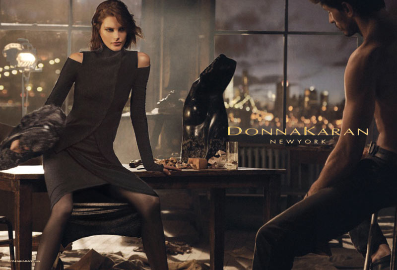 donna karan fall2 See More Images from Donna Karans Fall 2013 Campaign with Catherine McNeil