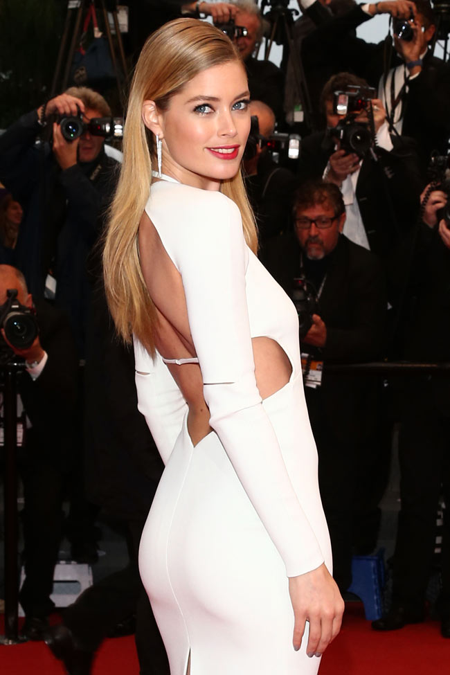 doutzen calvin klein1 Doutzen Kroes is White Hot in Calvin Klein Collection at the 66th Annual Cannes Film Festival